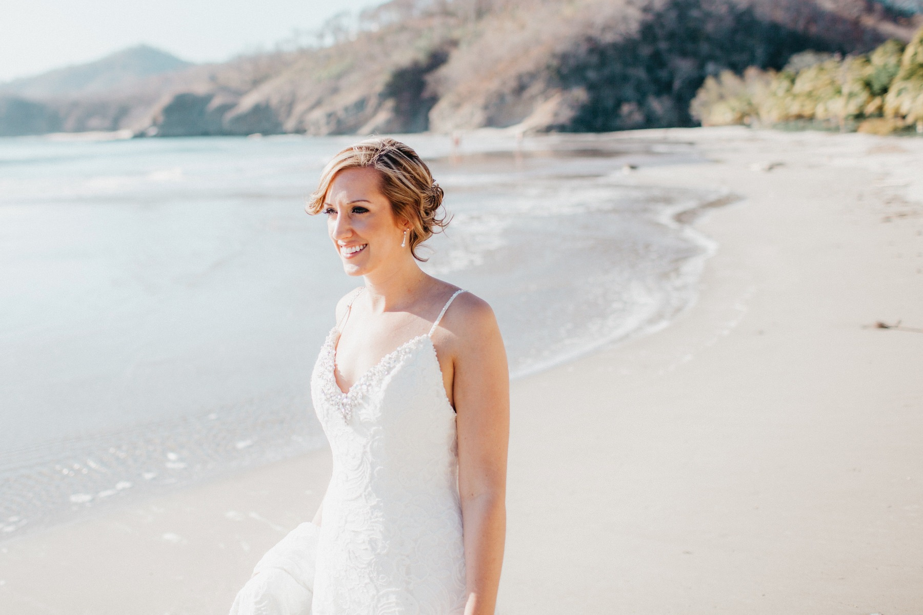 Wedding dress for destination beach wedding in Costa Rica