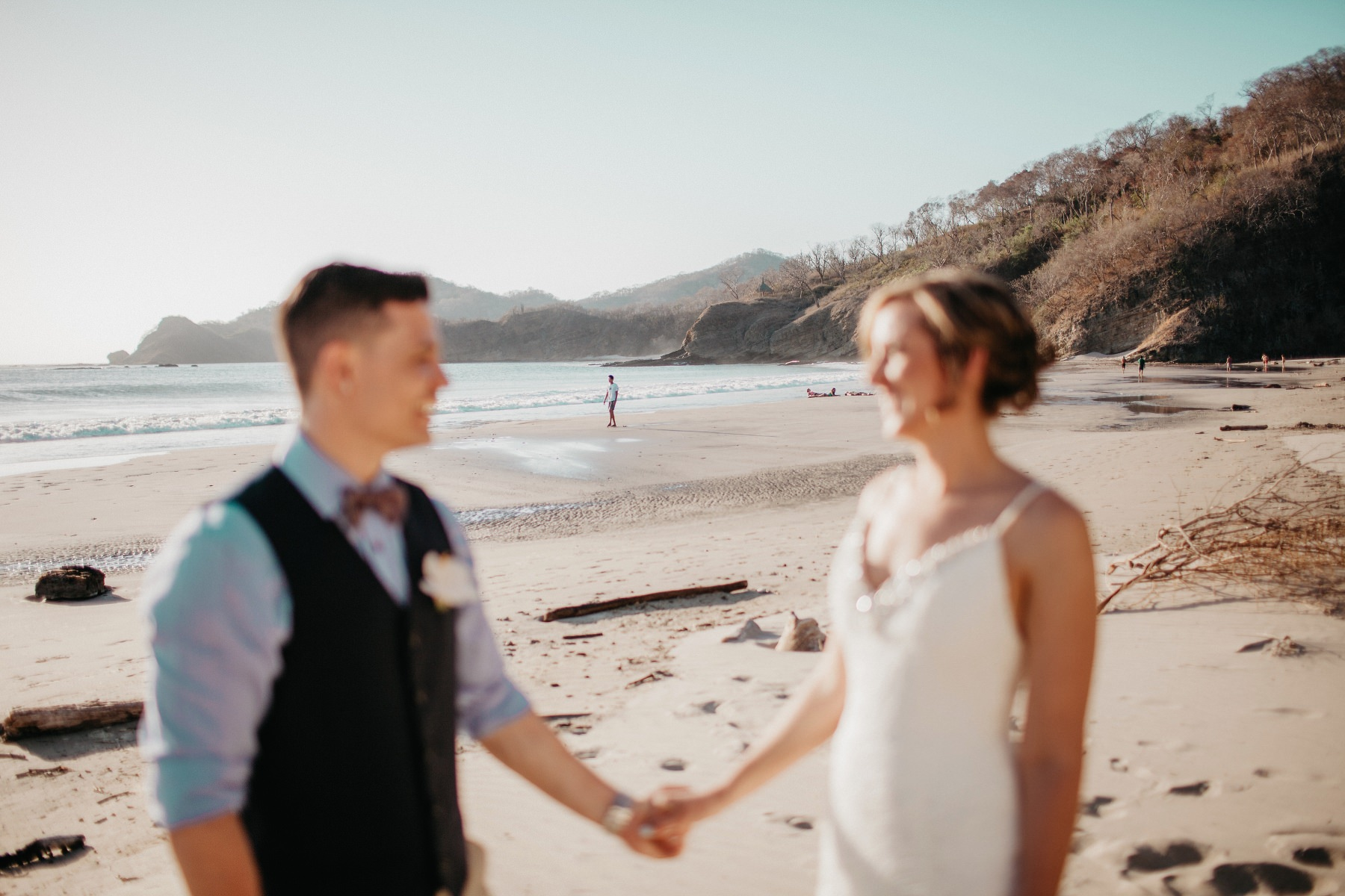 Destination beach elopement at the beach
