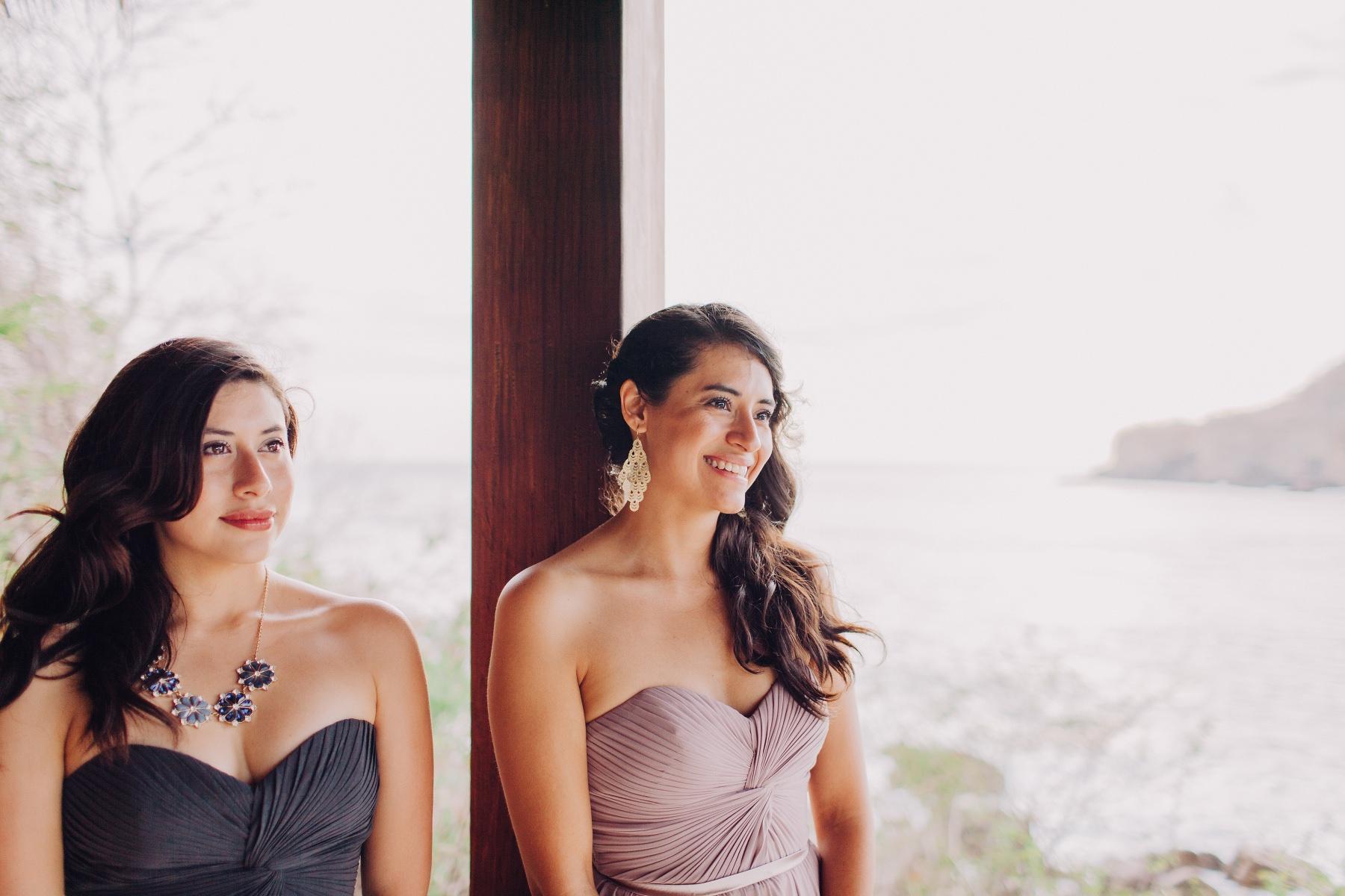 Nicaragua Beach wedding beautiful bridesmaids style