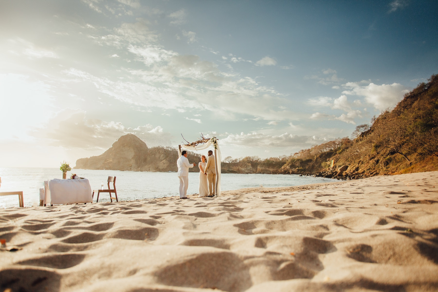 Beach elopement in Nicaragua.