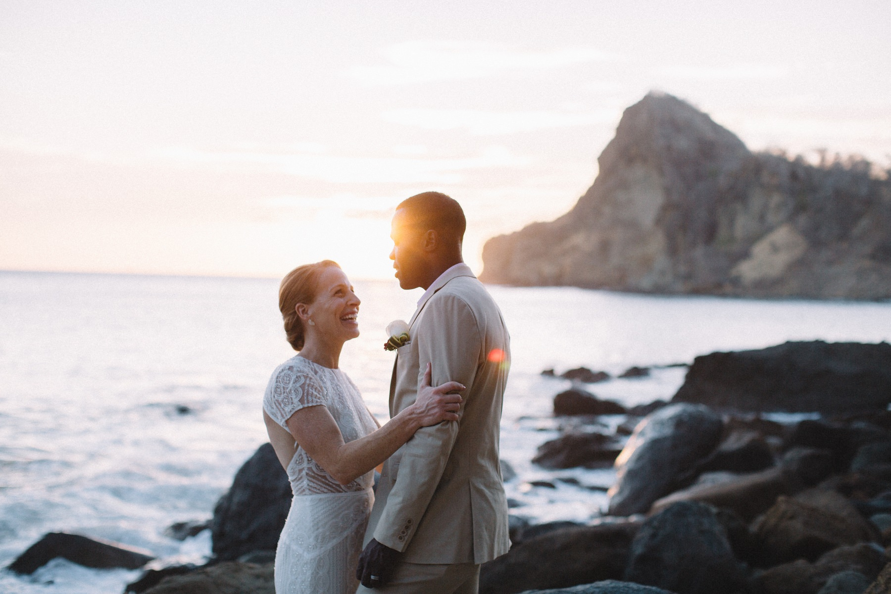 Newlyweds portraits at the beach in Nicaragua