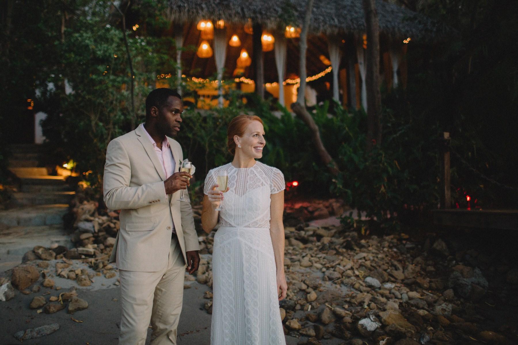 Wedding portraits after beach elopement in Nicaragua