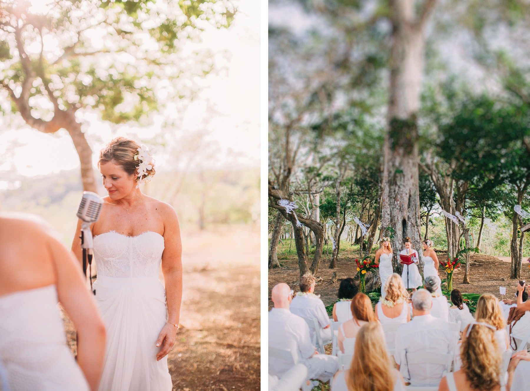 Boho Same-sex wedding under a tree in Costa Rica