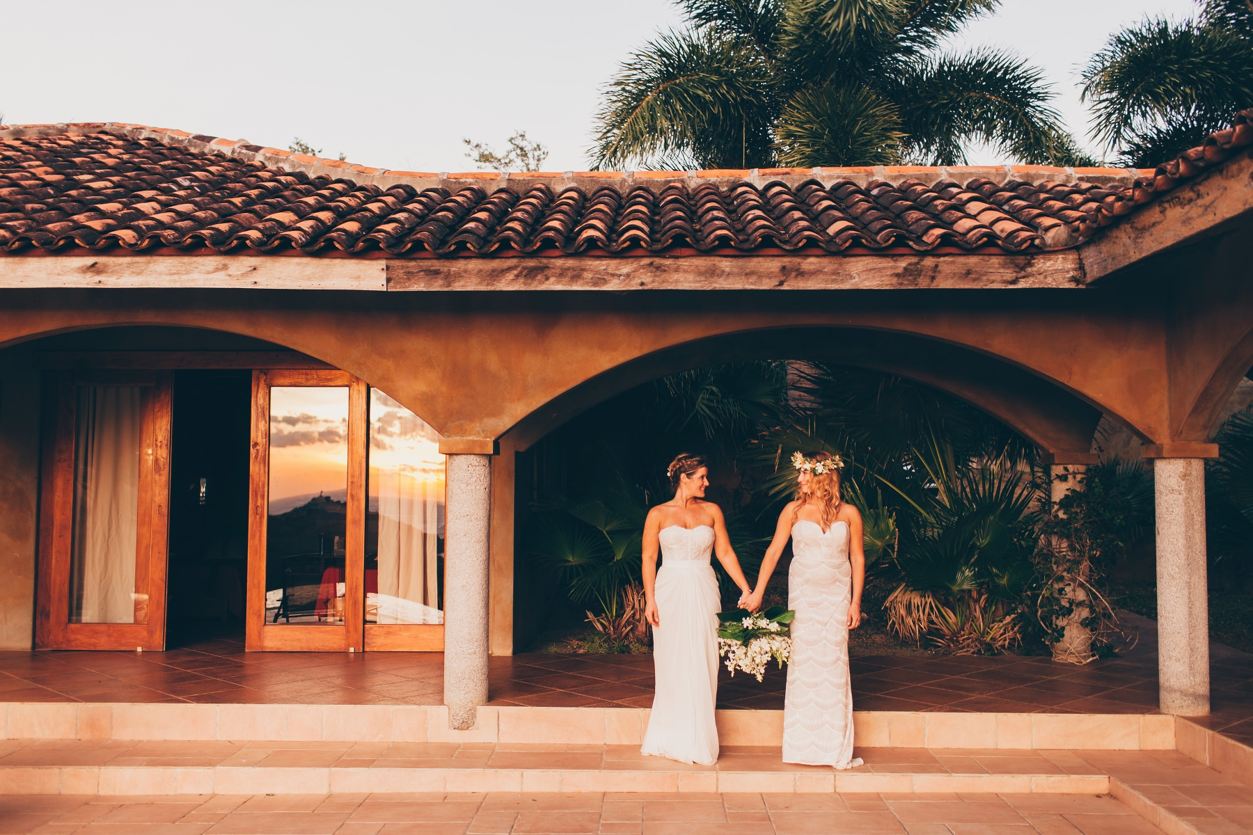 Beautiful brides photography - same-sex destination wedding Tropical  Venue Costa Rica