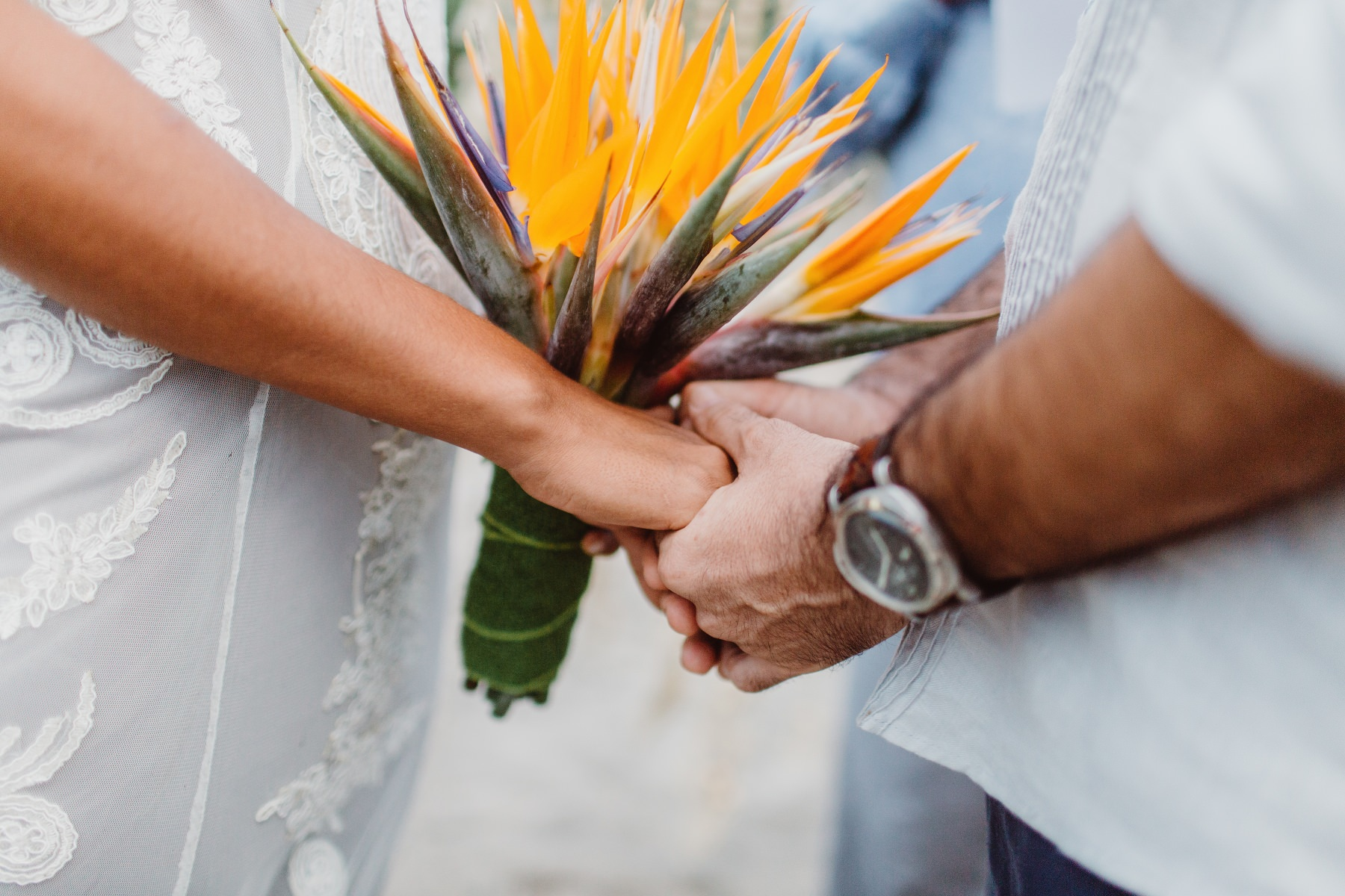 Bouquet details inspiration - tropical destination wedding Costa Rica