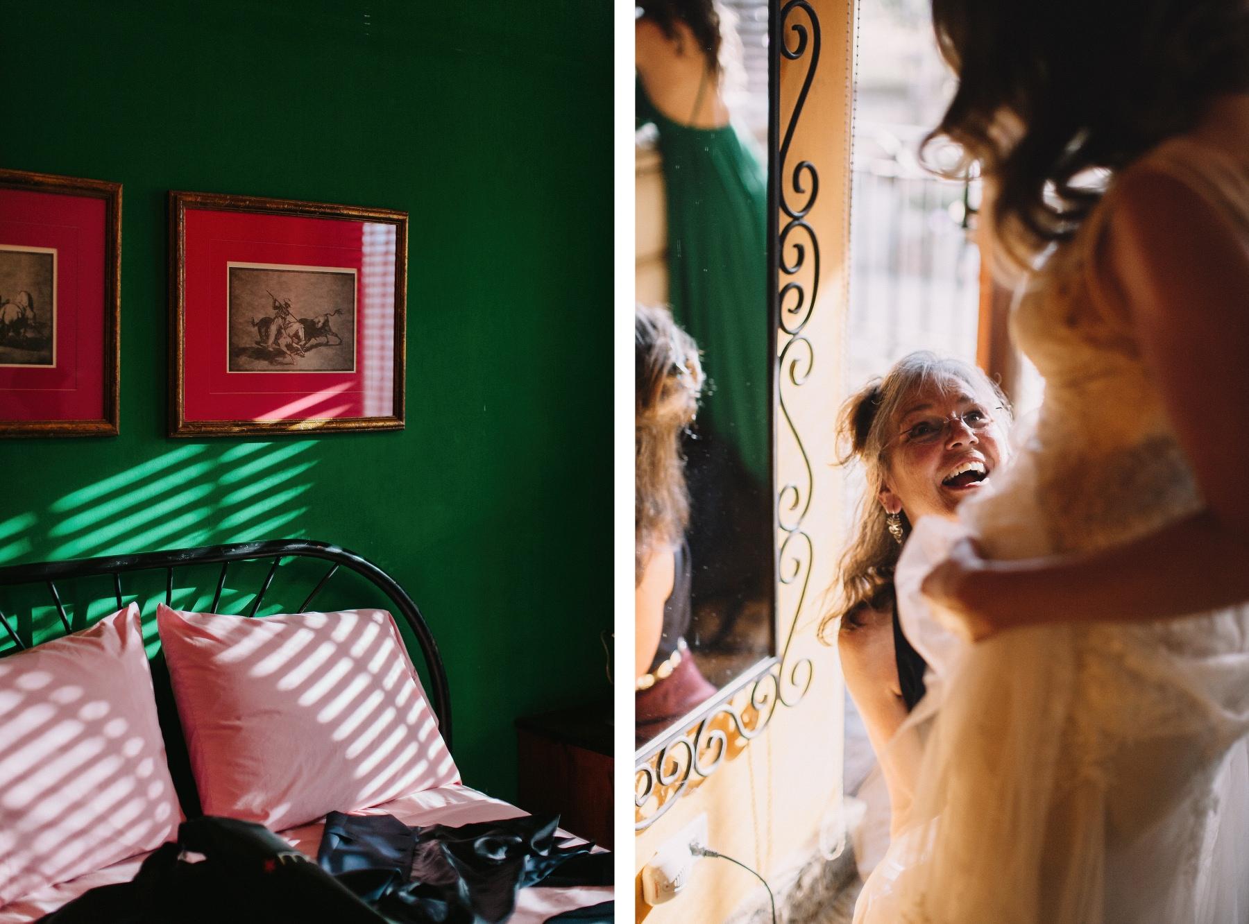 Colonial style Bride destination wedding Mexico - Nicaragua