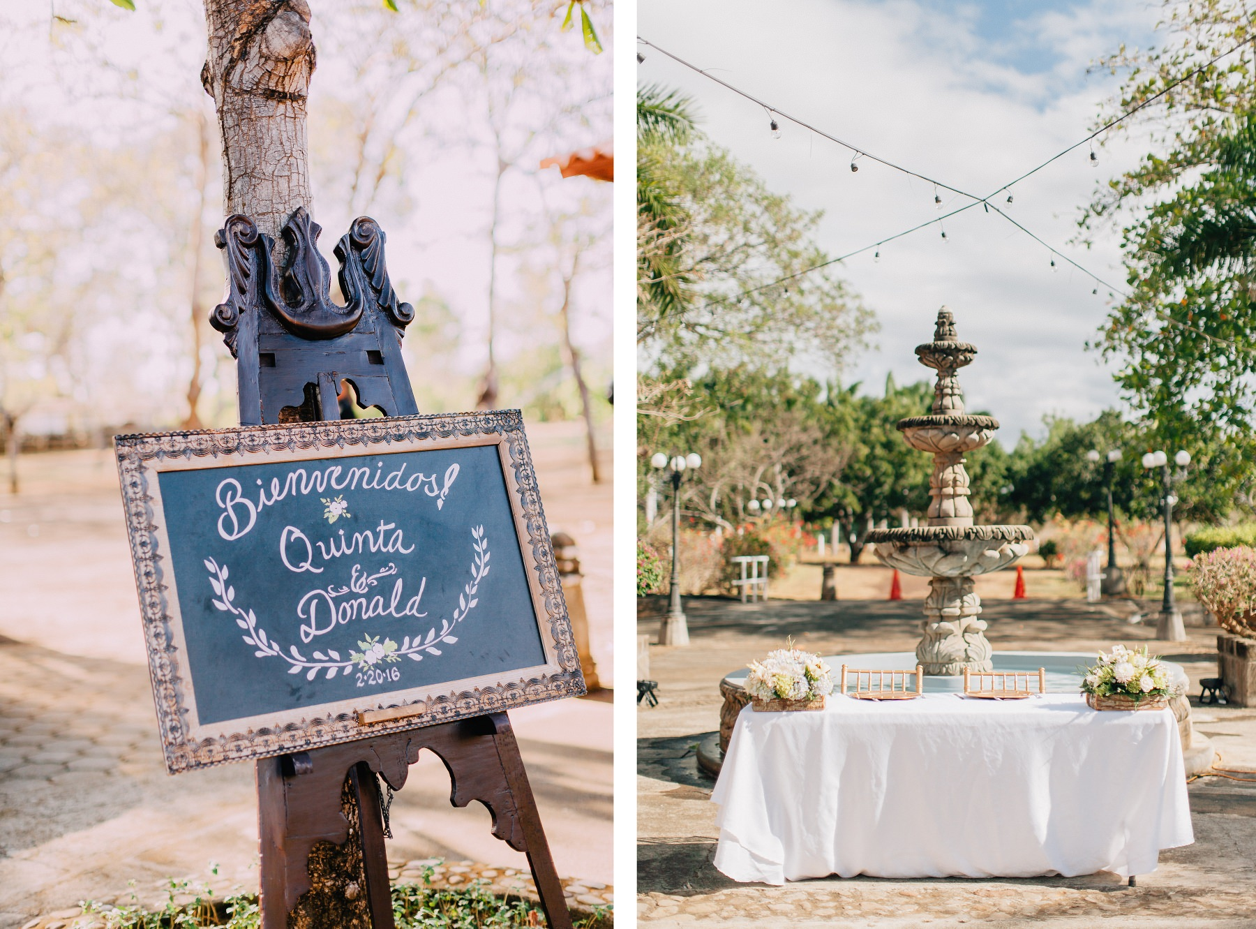 Wedding decor - Colonial style destination wedding Mexico - Nicaragua