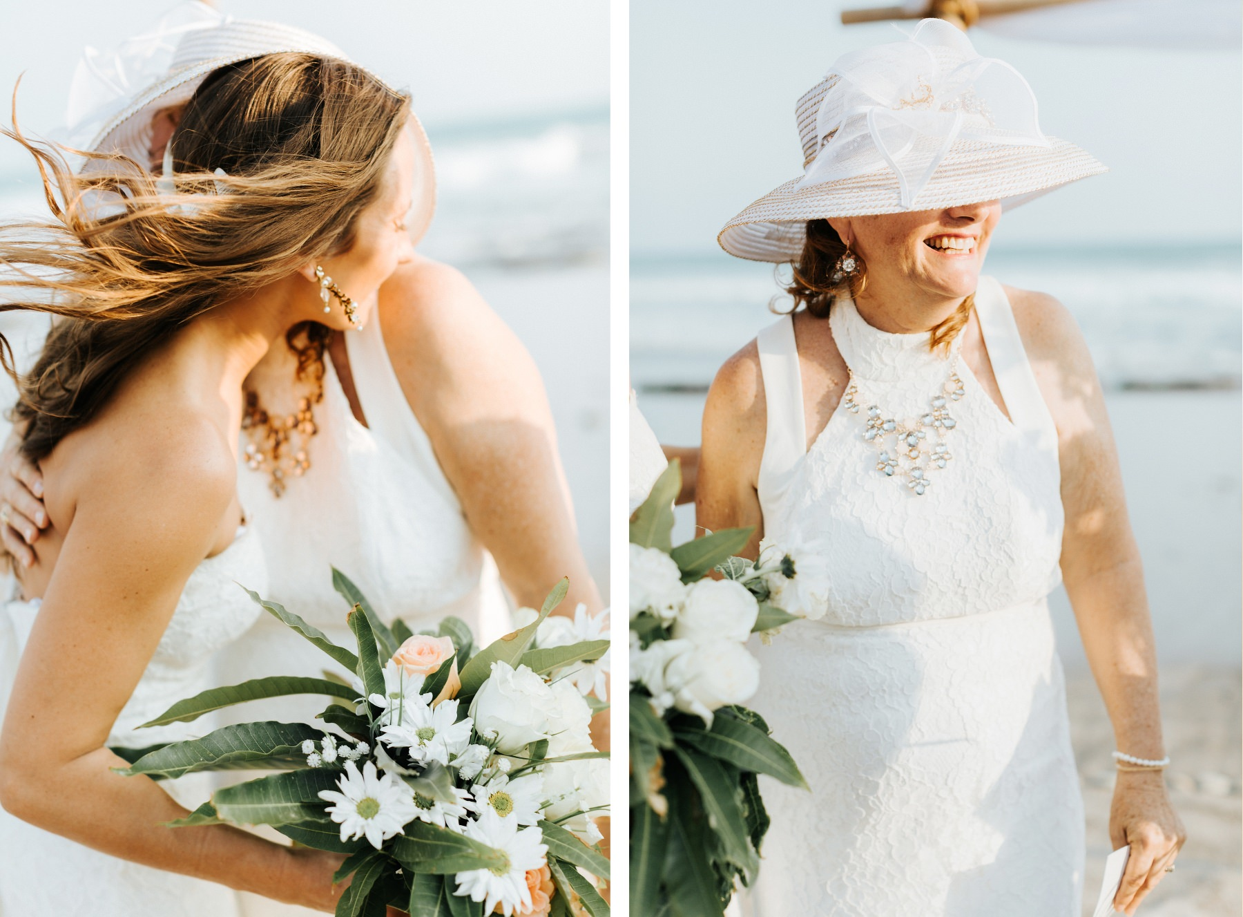 Costa Rica beach wedding dress inspiration for mother