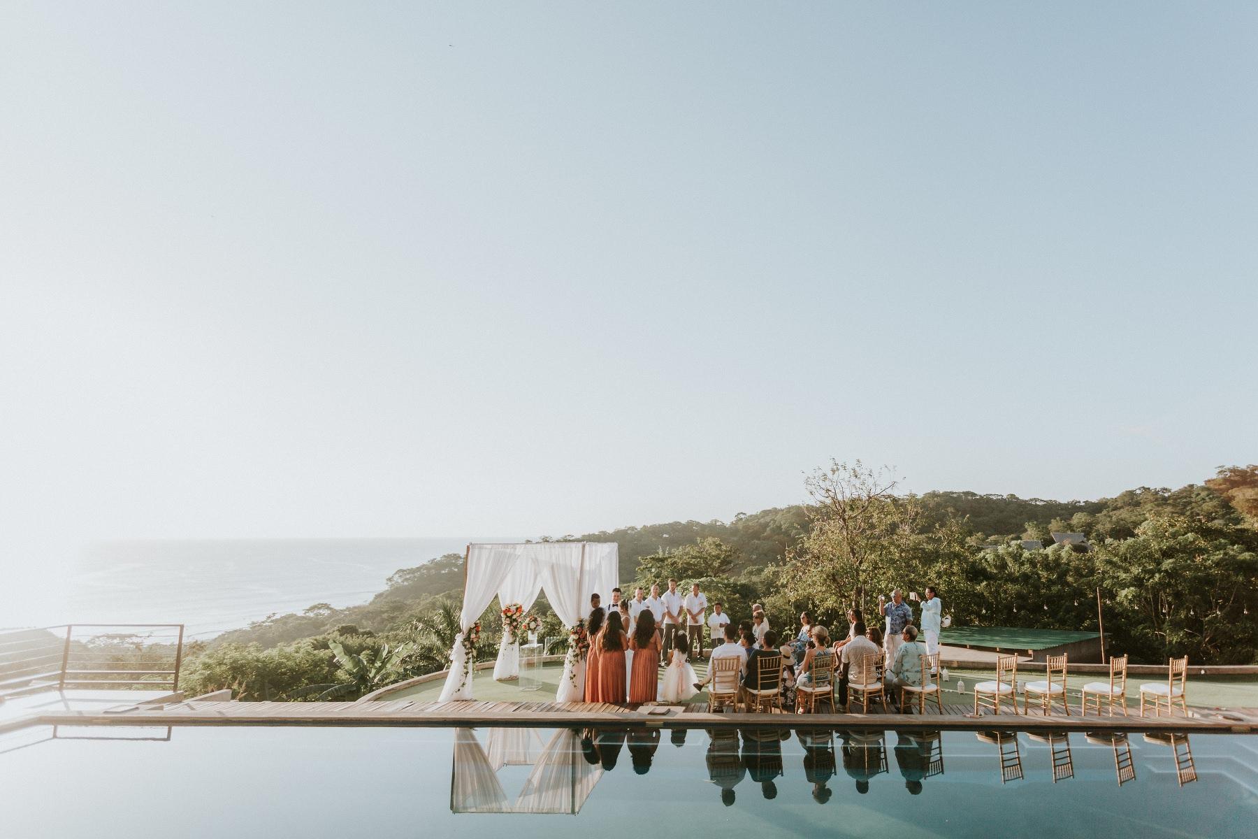 Beach wedding  Nicaragua Costa Rica. Playa Maderas