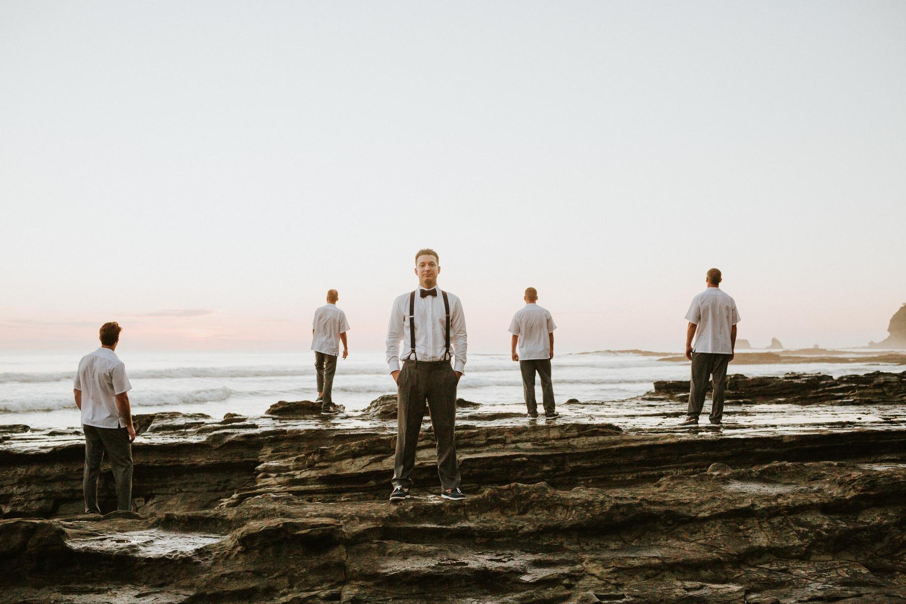 Groomsmen photo ideas for beach wedding Costa Rica