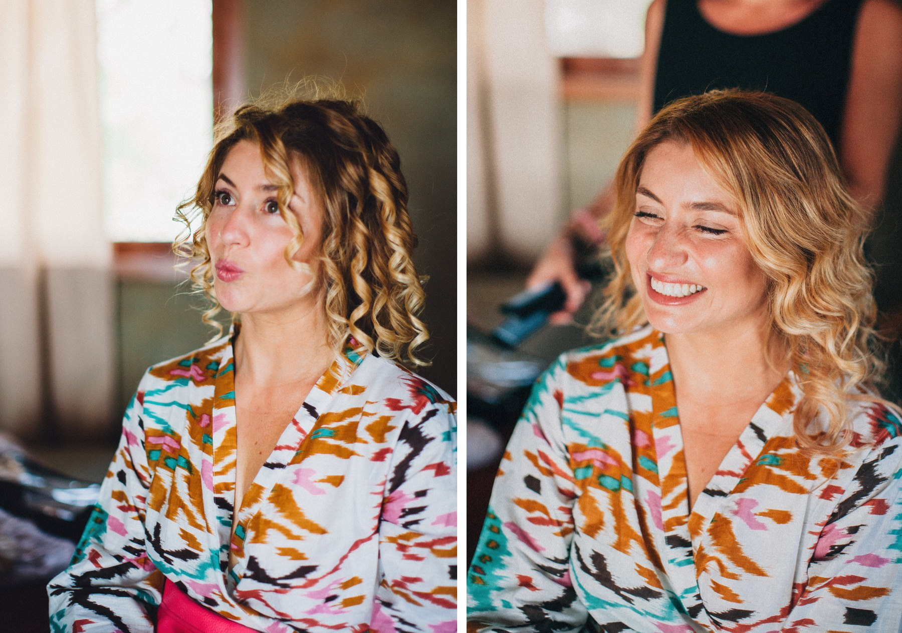 Beautiful bride smiling while getting ready for her wedding in Costa Rica