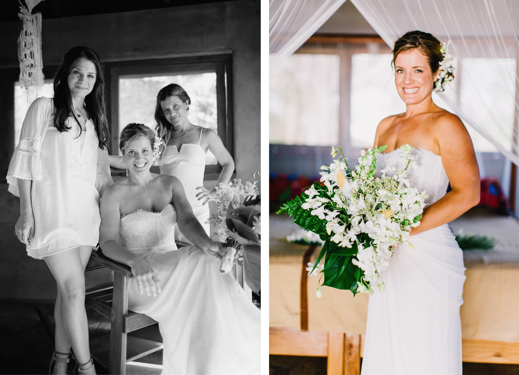 Wedding portraits - bride and family photography Costa Rica
